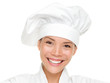Woman chef, cook or baker portrait isolated