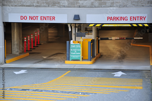 Entrance parking garage