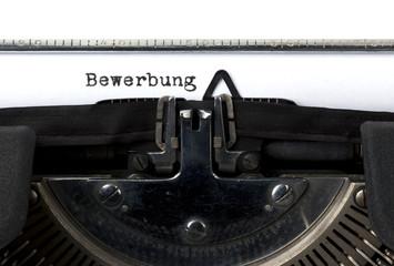Bewerbung auf Schreibmaschine geschrieben