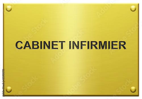 cabinet infirmier plaque professionnelle grav e de laz 39 e pete photo libre de droits 35988711. Black Bedroom Furniture Sets. Home Design Ideas