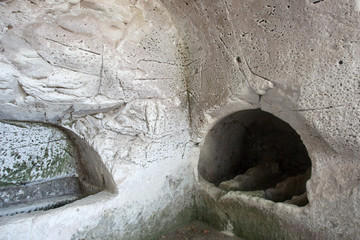 Old jewish caves in Beit Shearim