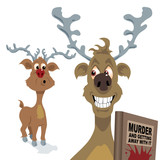 Reindeer with murder in mind poster