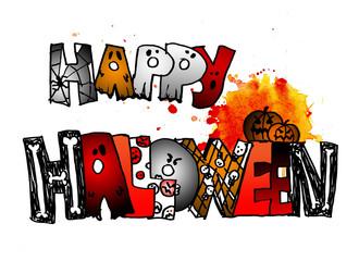 felice halloween colorato