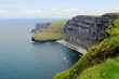 high cliff at precipice on the North Sea in Ireland