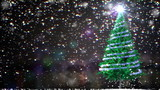Christmas Tree with place for text and alfa channel