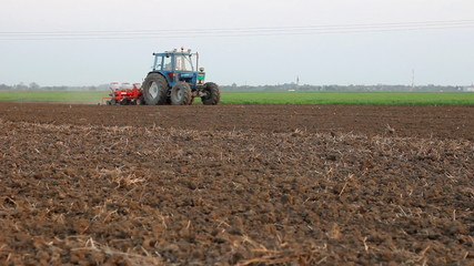 Seeder for sowing in a field