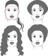 стрижки для лица формы квадрат