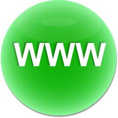 button internet WWW