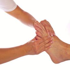 Fußmassage in Reflexzonen quadratisch