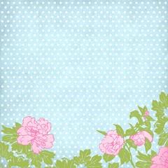 trendy hellblau gepunktet rosen hintergrund