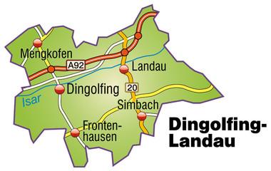 Landkreis Dingolfing Landau in SVG V1