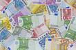 Viele verschiedene Euronoten