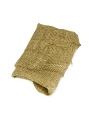 Sackcloth material isolated on white background