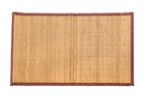 Fototapety bamboo mat on white background