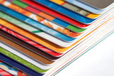 Fototapety Credit cards on a white background