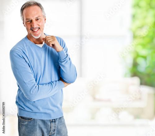 Happy mature man portrait