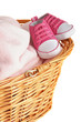 Pink Baby Blanket and Booties