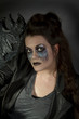 Attractive girl in scary gothic makeup