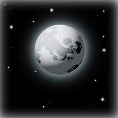 Beautiful Moon Illustration