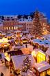 Leinwanddruck Bild - Weihnachtsmarkt im Erzgebirge, Christkindlmarkt