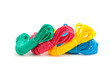 Colourful rope isolated on the white background