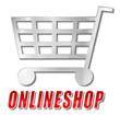 Onlineshop Einkaufswagen 3D