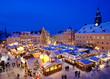 Leinwanddruck Bild - Weihnachten im Erzgebirge, Weihnachtsmarkt in Annaberg-Buchholz