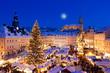 Leinwandbild Motiv Weihnachten im Erzgebirge, Weihnachtsmarkt in Annaberg-Buchholz