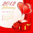 Calendar for 2012 February