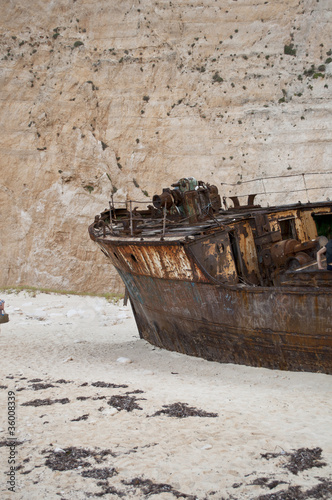 Ship wreck on Navagio beach