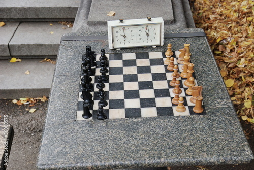 public chessboard in Sofia, Bulgaria