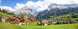 Leinwandbild Motiv Grindelwald Village Panorama