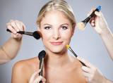 woman makeup brush