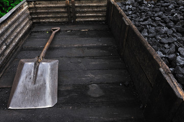 black, burn, coal, energy, shovel, stone, structure