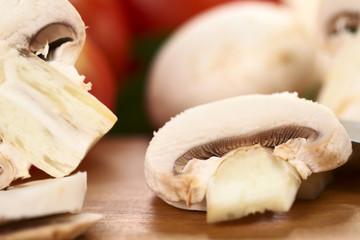 White mushroom slice