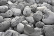 grey pebbles background