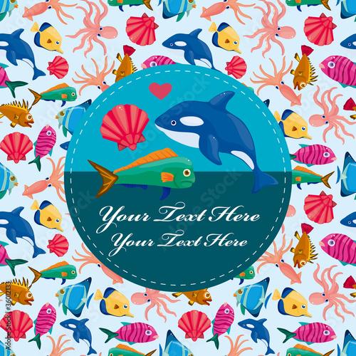 cartoon fish card