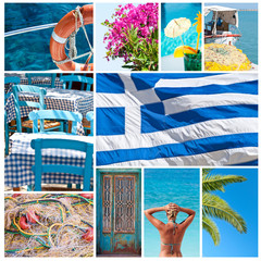 Greece collage - Travel to Greece concept