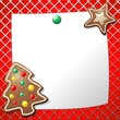 Biscotto Albero Natale Auguri-Gingerbread Cookies Background