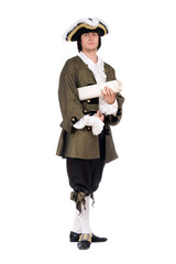 Man in a historical costume