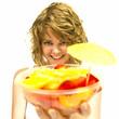 Obst ist gesund.