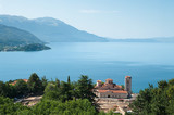 Ohrid Lake And Sveti Kliment Church, Republic Of Macedonia poster