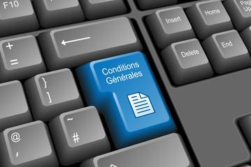 """Touche """"CONDITIONS GENERALES"""" (vente utilisation termes bouton)"""