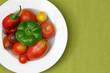 Gemüseraritäten auf einem Teller