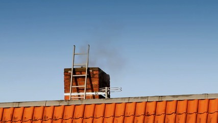 Smoking chimney ladder