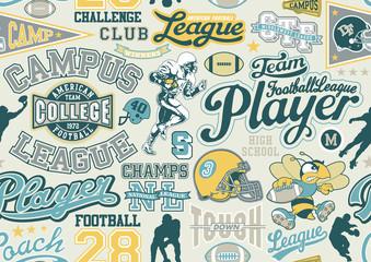 American football seamless vector pattern
