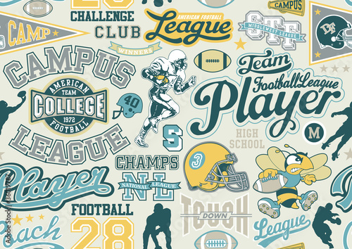 American football seamless vector pattern
