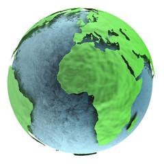 Planète verte écologique