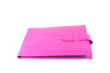 Pink bank book holder, Pink leather bag