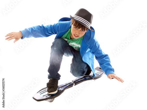 boy on a casterboard